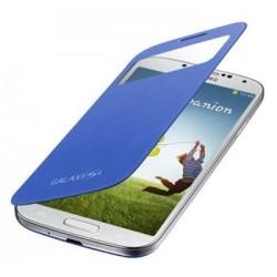 Samsung flipové pouzdro s oknem EF-CI950BCE pro Galaxy S IV (i9505) Light Blue