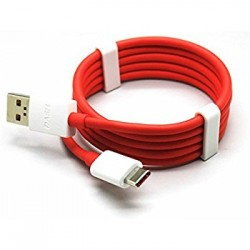 One Plus 3 3T Original Type C Datový kabel White/Red (Bulk)