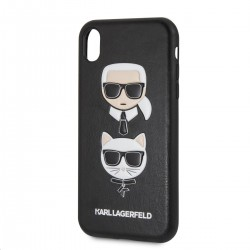 KLHCI61KICKC Karl Lagerfeld Karl and Choupette Hard Case Black pro iPhone XR