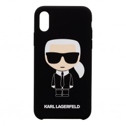 KLHCPXSLFKBK Karl Lagerfeld Full Body Iconic Hard Case pro iPhone X/XS Black