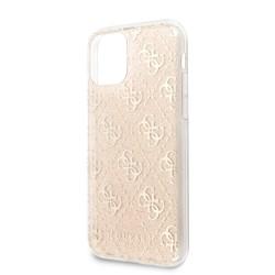 GUHCN61PCU4GLG Guess 4G Glitter Zadní Kryt pro iPhone 11 Gold (EU Blister)