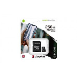 microSDXC 256GB Kingston Canvas Select + w/a