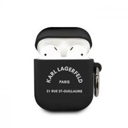KLACA2SILRSGBK Karl Lagerfeld Rue St Guillaume Pouzdro pro Airpods 1/2 Black