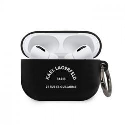 KLACAPSILRSGBK Karl Lagerfeld Rue St Guillaume Pouzdro pro Airpods Pro Black