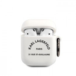KLACA2SILRSGWH Karl Lagerfeld Rue St Guillaume Pouzdro pro Airpods 1/2 White