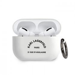 KLACAPSILRSGWH Karl Lagerfeld Rue St Guillaume Pouzdro pro Airpods Pro White