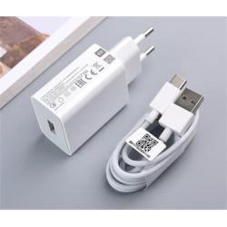 Xiaomi MDY-11-EP 3A 22,5W USB Cestovní Nabíječka + Type C Kabel White (Bulk)