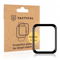 Tactical Glass Shield 5D sklo pro Apple Watch 4/5/6/SE 44mm Black