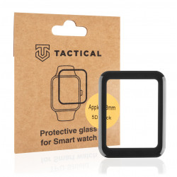 Tactical Glass Shield 5D sklo pro Apple Watch 38mm Series1/2/3 Black