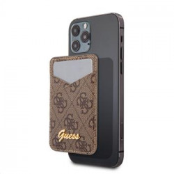 GUWMS4GTLBR Guess 4G Magnetic Cardslot Triangle Logo Brown